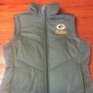 Women Green Bay Packer Vest.
